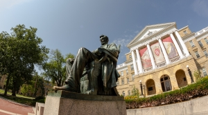 Abe Lincoln statue and Bascom Hall