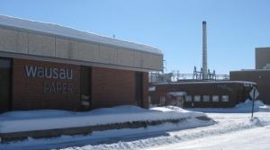 Wausau Paper mill in Brokaw, Wisconsin