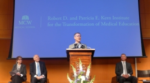 President of the Medical College of Wisconsin, John Raymond, announces the start of the Transformation of Medical Education