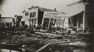 Flooding in Wisconsin Rapids in 1880