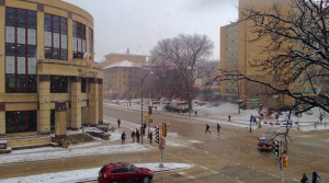 Snowstorm on the UW-Madison campus