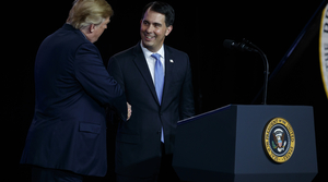 Read full article: Walker Appears With Trump For Worker Event At White House