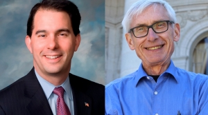Scott Walker and Tony Evers