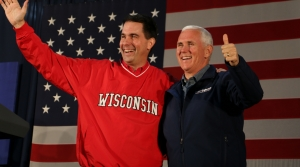 Read full article: Vice President Mike Pence Stumps For Gov. Scott Walker, Sen. Leah Vukmir In Hudson
