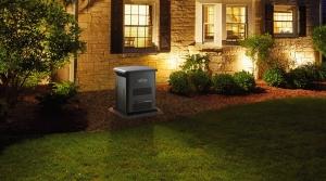A backup generator outside a home