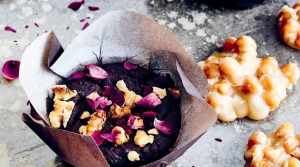 Chocolate, Red Beans and Rose Brownies