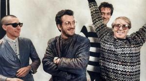 (L to R) Steve Nieve, Elvis Costello, Bruce Thomas, Pete Thomas