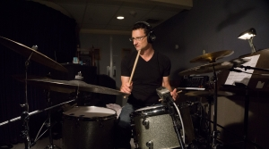 David Whitman at a drum set