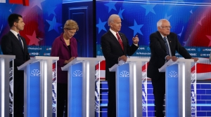 Four Democratic presidential primary candidates debate