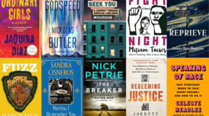 A collage of book covers.