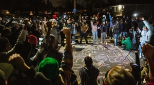 Protests lasted for hours in Brooklyn Center, Minn., where 20-year-old Black man Daunte Wright died after being shot by