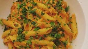 Read full article: Penne Pasta with Salmon, Fresh Spinach, and Peppers