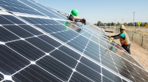 To cut carbon emissions, President Biden announced an initiative to further cut the cost of solar installations, like