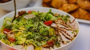 Read full article: Mediterranean Pasta, Tomato, Asparagus, Broccoli Salad with Basil Dressing