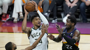 Read full article: Bucks Drop Game 2 Of NBA Finals Despite 42 Points From Antetokounmpo