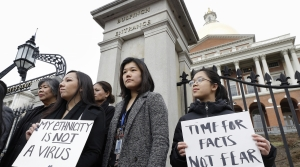 Asian-American protest in Massachusetts