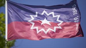 The Juneteenth flag