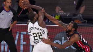 Read full article: Without Antetokounmpo, Bucks Come Up Big In OT To Extend Series Against Heat