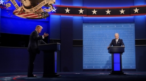 President Trump and Democratic presidential nominee Joe Biden square off during the first presidential debate on Tuesday