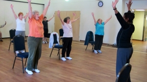 Participants take part in an exercise class at the Lourie Center, a senior center in Columbia, S.C.