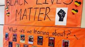 A poster from Frank Allis Elementary's Black Lives Matter in Schools Week of Action