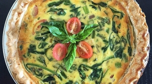 Read full article: Cheesy Tofu Quiche With Spinach