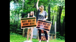 Read full article: Vilas County Woman Distributes Anti-Hate Signs After Photo Shows Man In KKK Robe