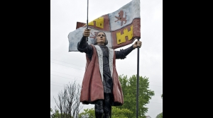 Statue of Christopher Columbus in Columbus, Wisconsin