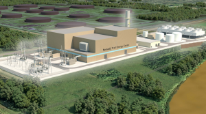 rendering of natural gas plant