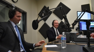 Jason Church and Tom Tiffany at WPR debate