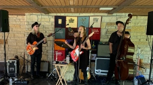 Eilen Jewell and her band at the 2019 Sugar Maple Festival