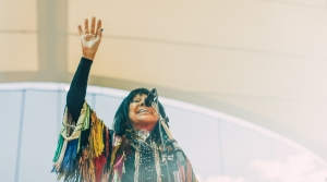 Buffy Sainte-Marie performs