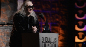 Jim Steinman speaks onstage at the Songwriters Hall of Fame induction and awards in 2012.