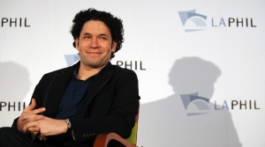 Gustavo Dudamel during a press conferece on Sept. 30, 2009 in LA, around the time he was named the music director of the