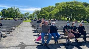 Around 300 people gathered to pray on behalf of George Floyd on Sunday, May 31 in Milwaukee's Washington Park.