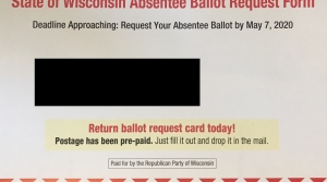 Read full article: GOP Mailer On Absentee Ballot Requests Confuses Voters, Putting Burden On Clerks To Explain