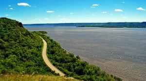 Lake Pepin view from Pepin County.