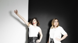 Carrie Brownstein and Corin Tucker of Sleater-Kinney