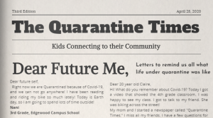 Read full article: Making The News: Kids Reflect On COVID-19 Experiences In Online Newspaper