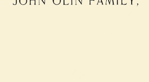 "Cover Image, ""The Olin Album"""