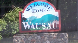 Wausau welcome sign
