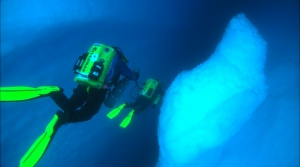 First iceberg cave dive ever completed