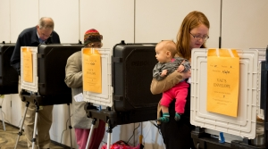 Voters at the polls.