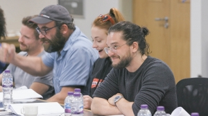 Kit Harington at the final table read for Game of Thrones