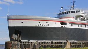 A car ferry in Lake Michigan