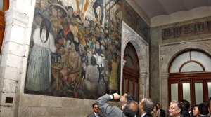 A mural by Diego Rivera at the Ministry of Education in Mexico City