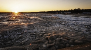 Icy Lake Erie