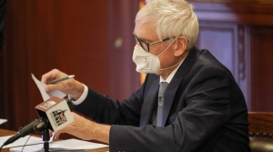 Gov. Tony Evers casting his Electoral College vote in 2020