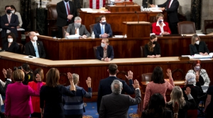 The 117th Congress taking their oath of office