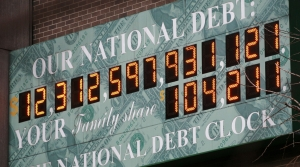 National Debt Clock in Washington D.C.